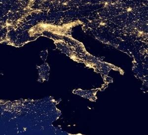a Italia notturna, foto Nasa