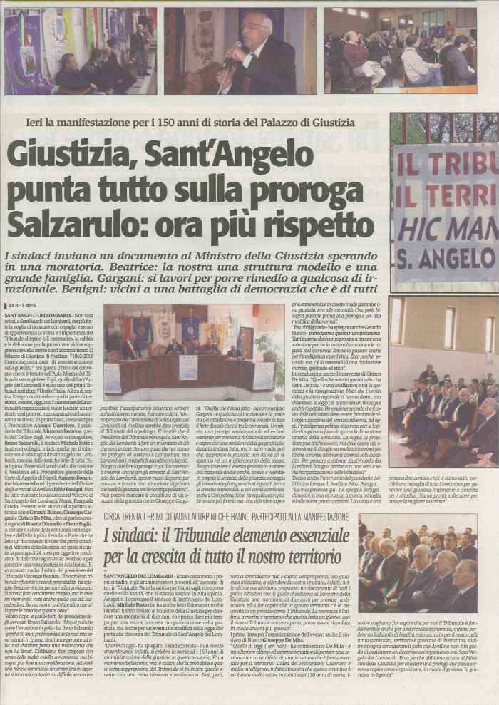 150 anni, tribunale, sant angelo, corriere irpinia