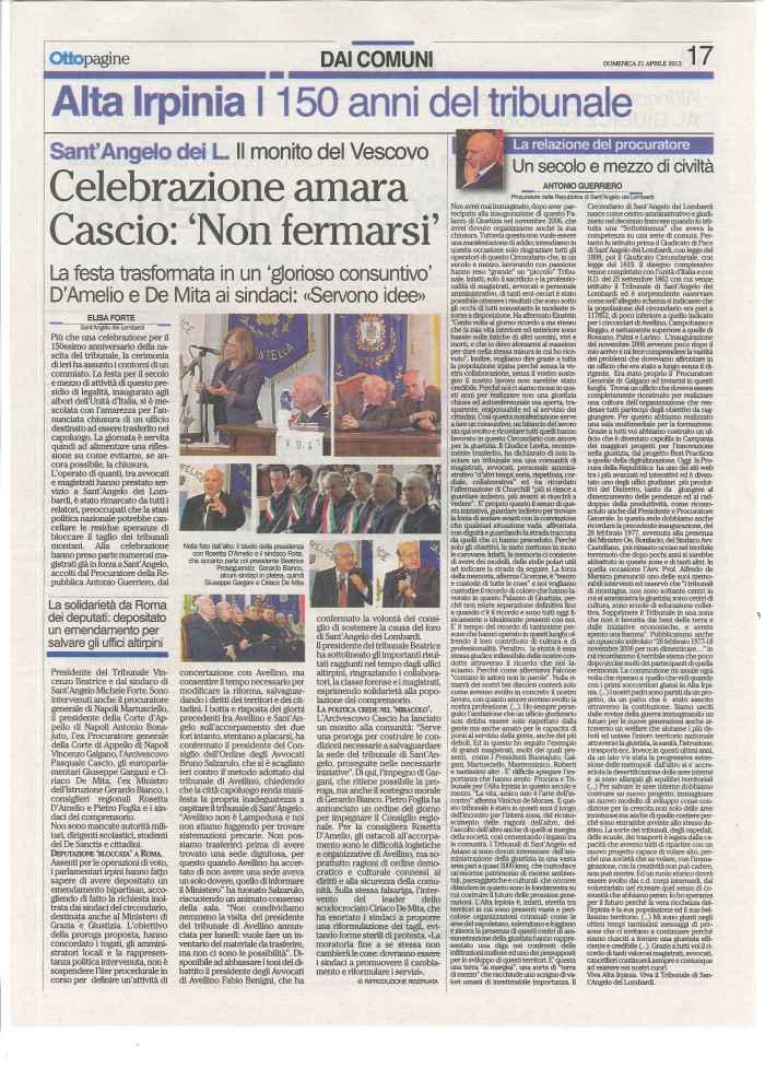 150 anni Tribunale Sant Angelo Ottopagine
