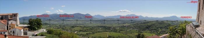 Elettrodotto Sant Angelo dei Lombardi _ vista dal Castello degli Imperiale _ DOPO _ simulazione fotografica