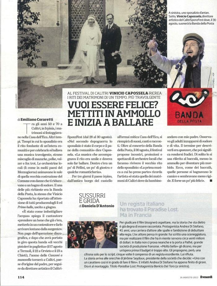 SPONZFEST VINICIO CAPOSSELA CALITRI