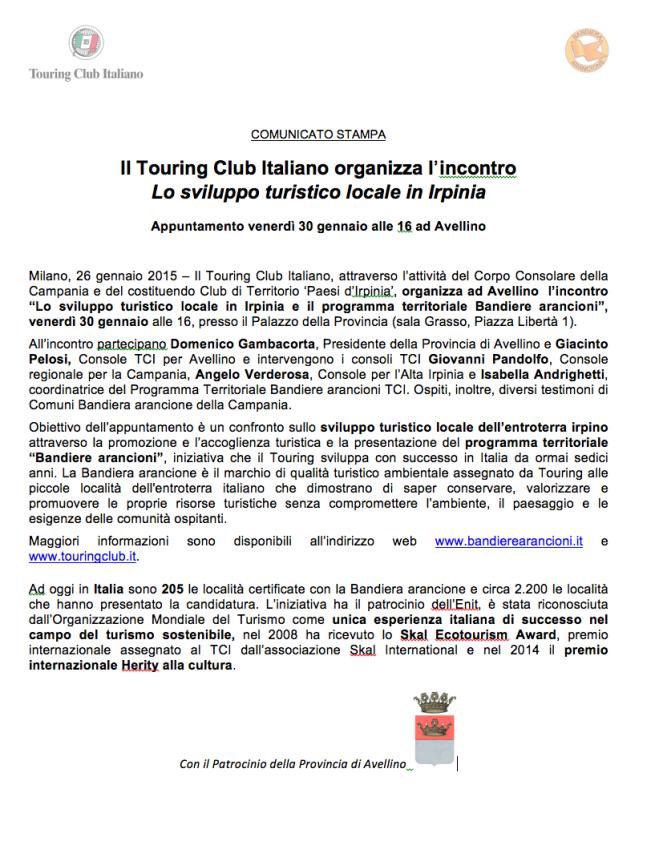 Lo sviluppo turistico locale in Iprinia _ Touring Club Italiano _ bandiere arancioni