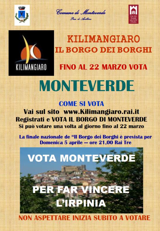 Paesi d Irpinia vota Monteverde
