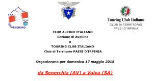 CAI TCI Senerchia Valva Laviano 17 maggio 2015