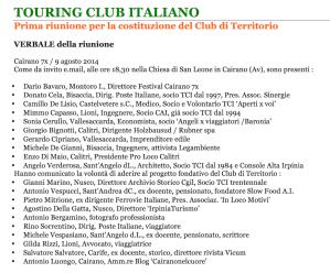 2014 verbale riunione fondazione TCi Irpinia