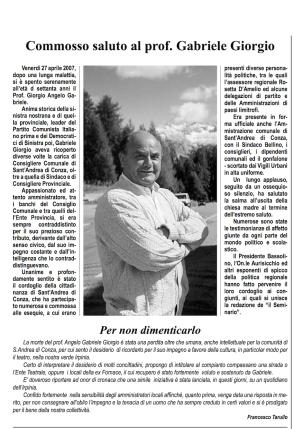 Il Seminario _ periodico _ 2007 _ Gabriele Giorgio