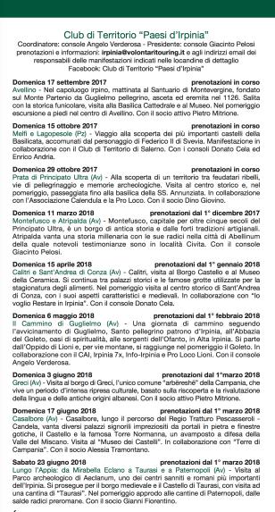 Paesi d'Irpinia 2017 2018