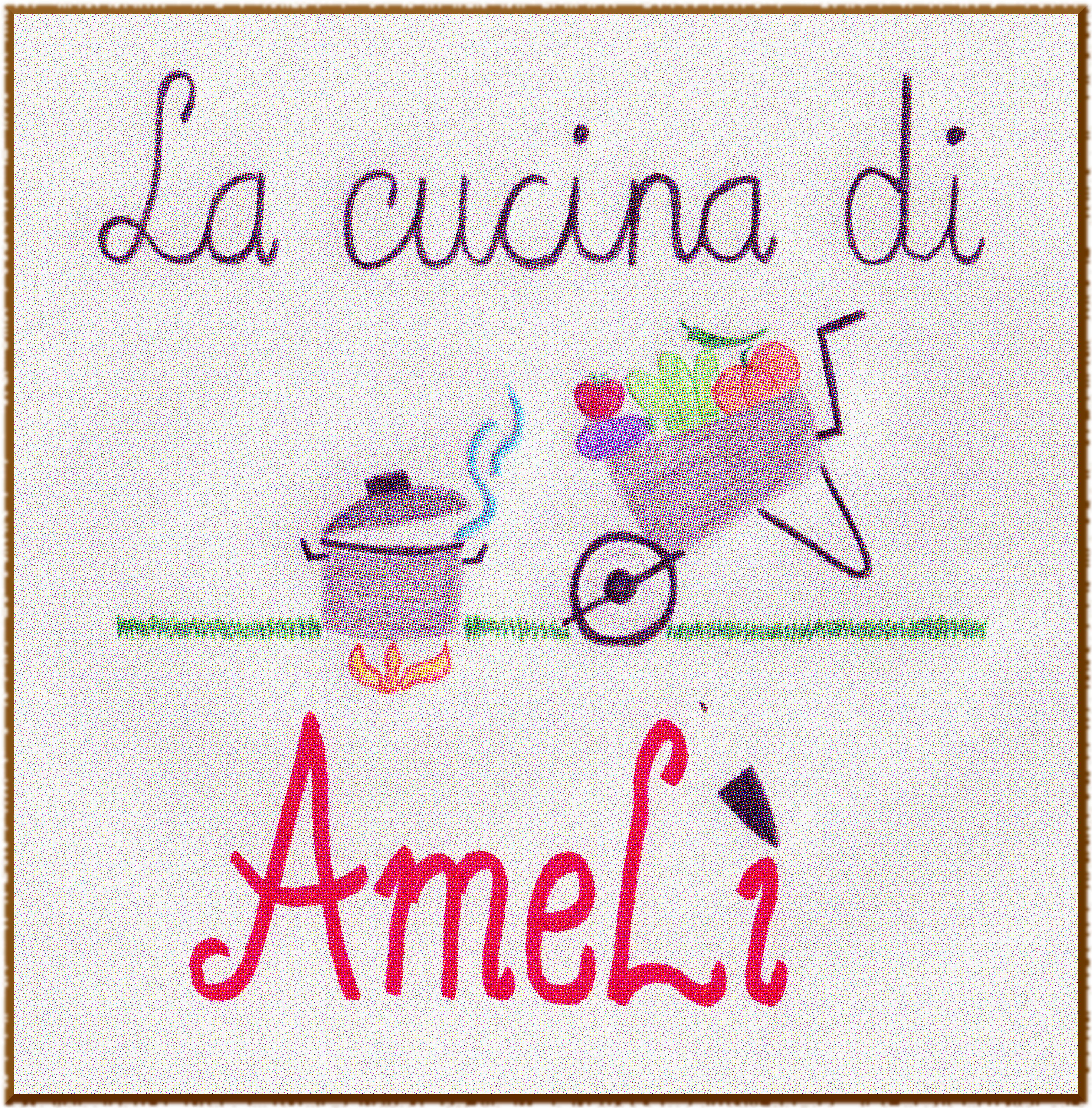 Logo Amelì bordo frastagliato